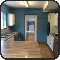 Kitchen Painted Blue
